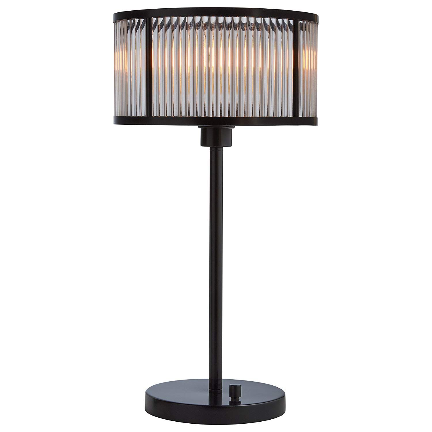 """Stone & Beam Modern Table Lamp, 22""""H, With Bulb, Black"""