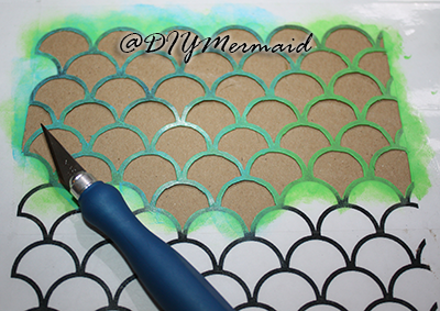 DIY: Mermaid Scales Stencil | nautical crafts | Mermaid scales