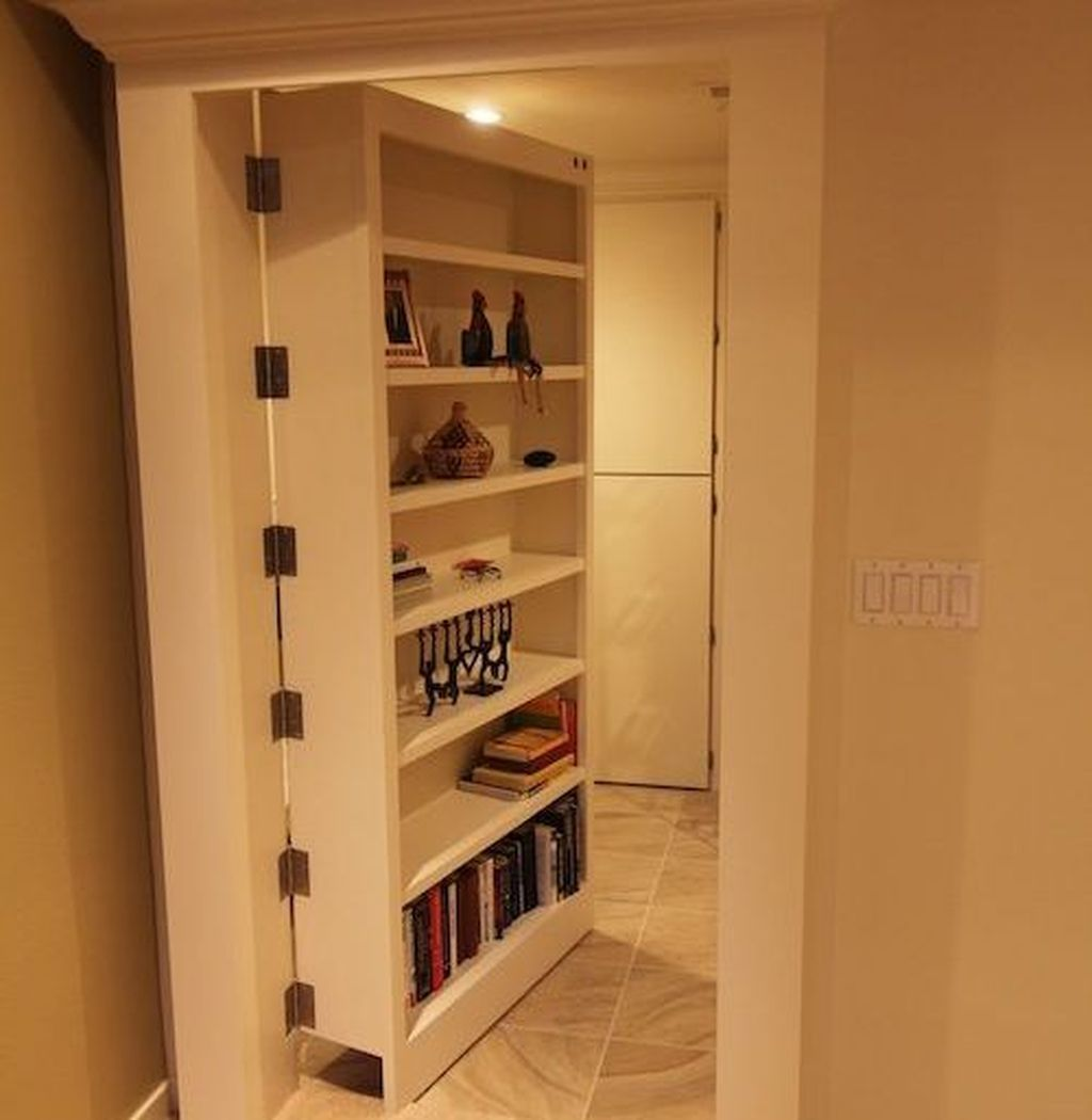 Awesome 47 Unique Hidden Storage Ideas For Bedroom Spaces Hidden Rooms Basement Remodeling Secret Rooms