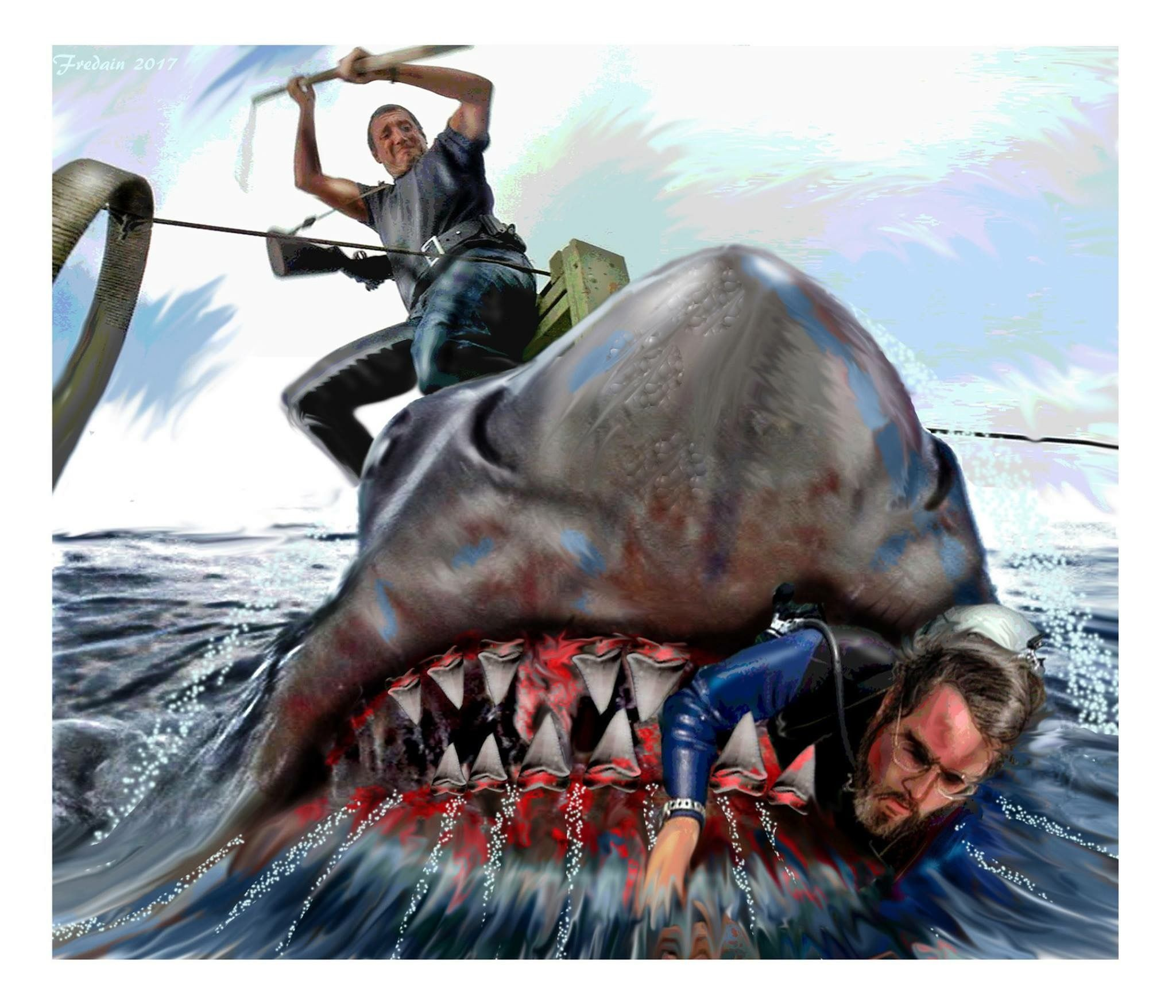 Pin By David Maciorkowski On Jaws Movies Scary Sea Creatures Shark Art Ocean Creatures