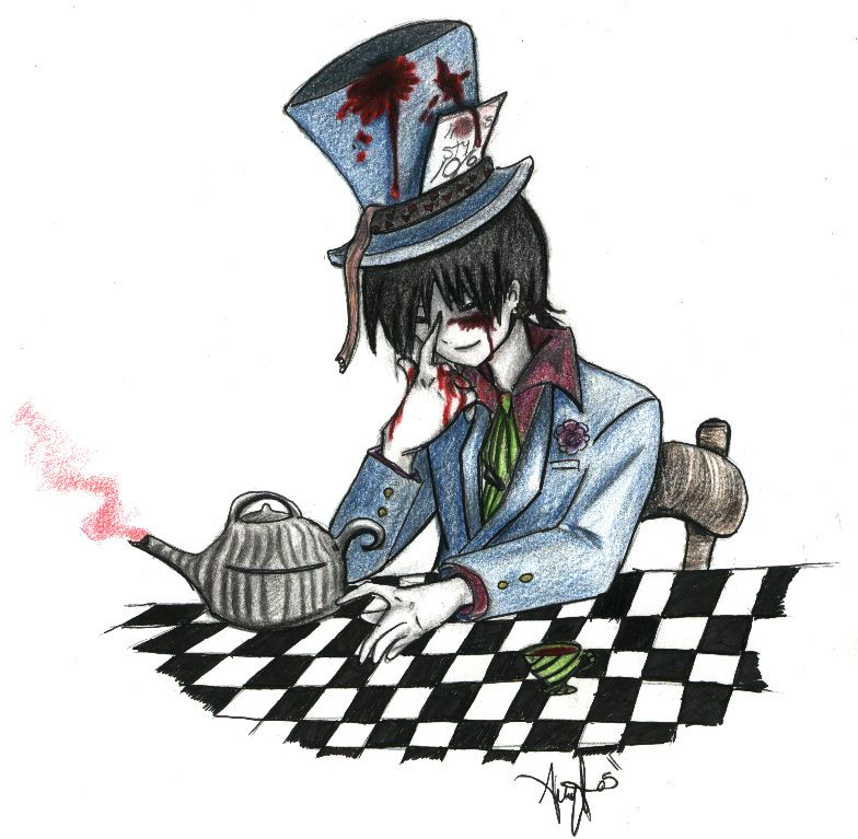 I Like The Black Hat Band Mad Hatter Miroku By Ghost Guy On