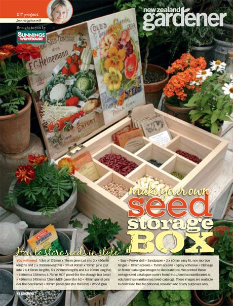Love this DIY for a Seed Storage Box...