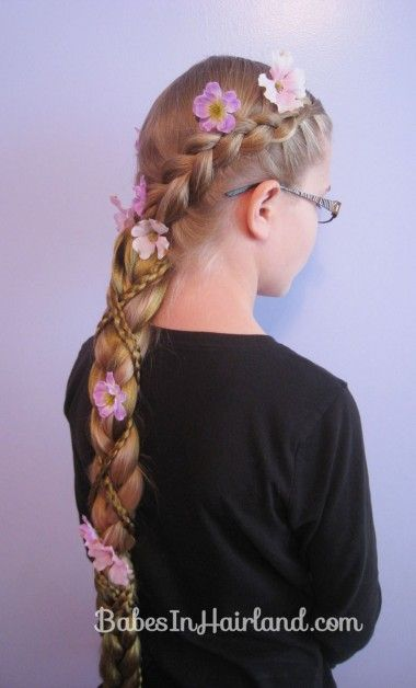 Rapunzel Hair Tutorial Using Extensions Rapunzel Pinterest