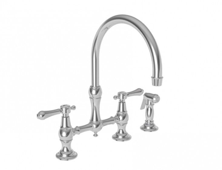chesterfield kitchen bridge faucet with side spray bridge style kitchen faucets home design ideas