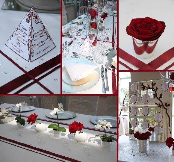 Decoration Salle  Ans Rouge Argent