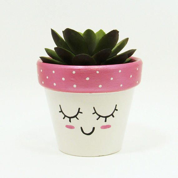 Succulent planter terracotta pot cute face planter air plant succulent planter terracotta pot cute face planter air plant holder plant pot flower pot indoor planter kawaii from timberlinestudio on etsy mightylinksfo
