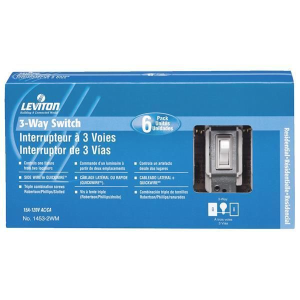 Other Electrical Switches 20597: 10 Pk Leviton White 15A 120V Quiet ...
