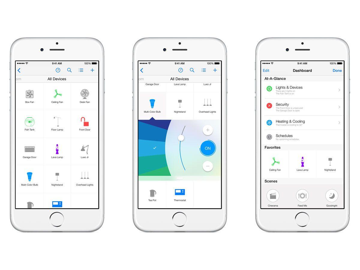 Apple HomeKit / Office / Home Kit homes, Mobile app