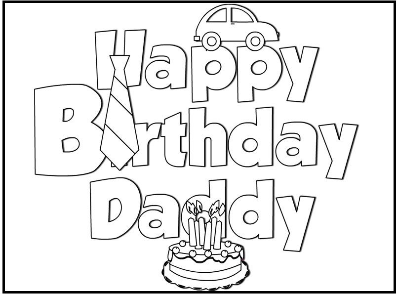Coloring Pages Birthday Card For DadPagesPrintable Coloring