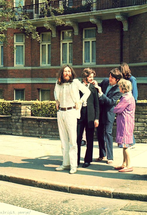 Just 4 Lads From Liverpool Standing On A Street Corner About To Make History The Beatles Abbey Road Beatles Abbey Road