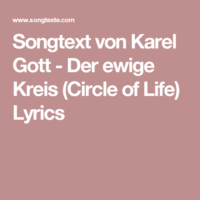 Songtext Der Ewige Kreis