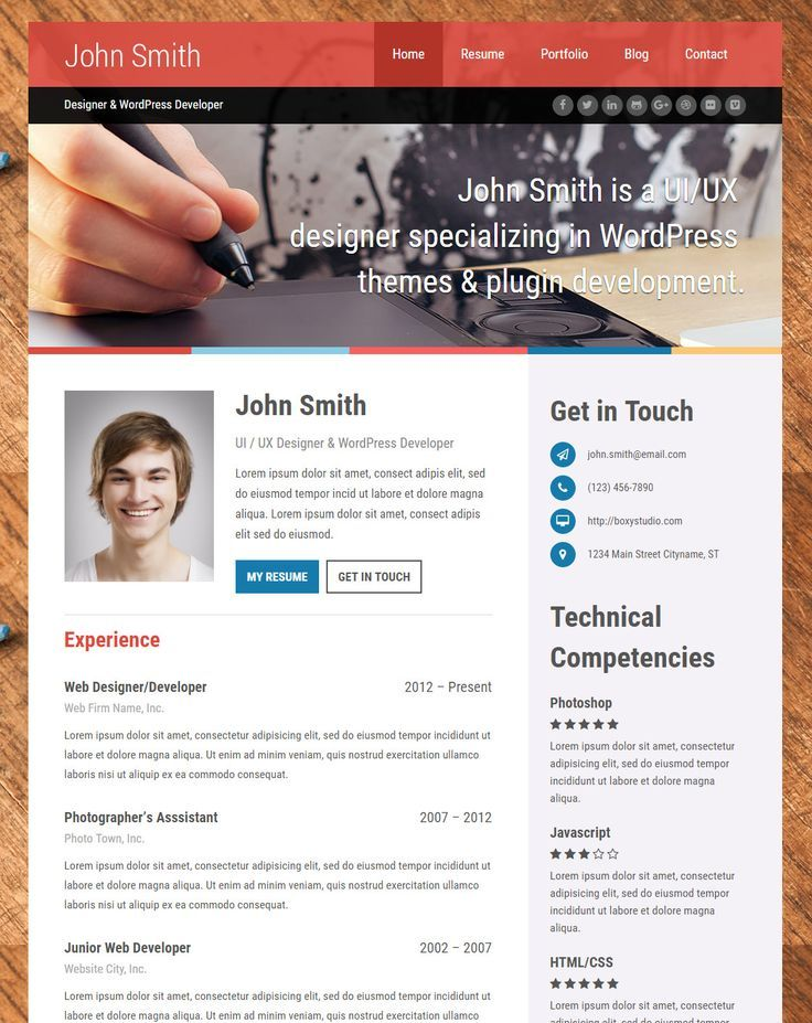 Top 15 Resume Website Templates (in WordPress) u003ca hrefu003d - Best Resume Building Websites