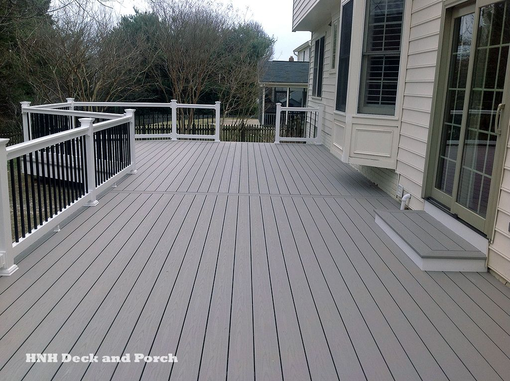 Vinyl Deck With Azekbuilds Slate Grey Flooring And Longevity