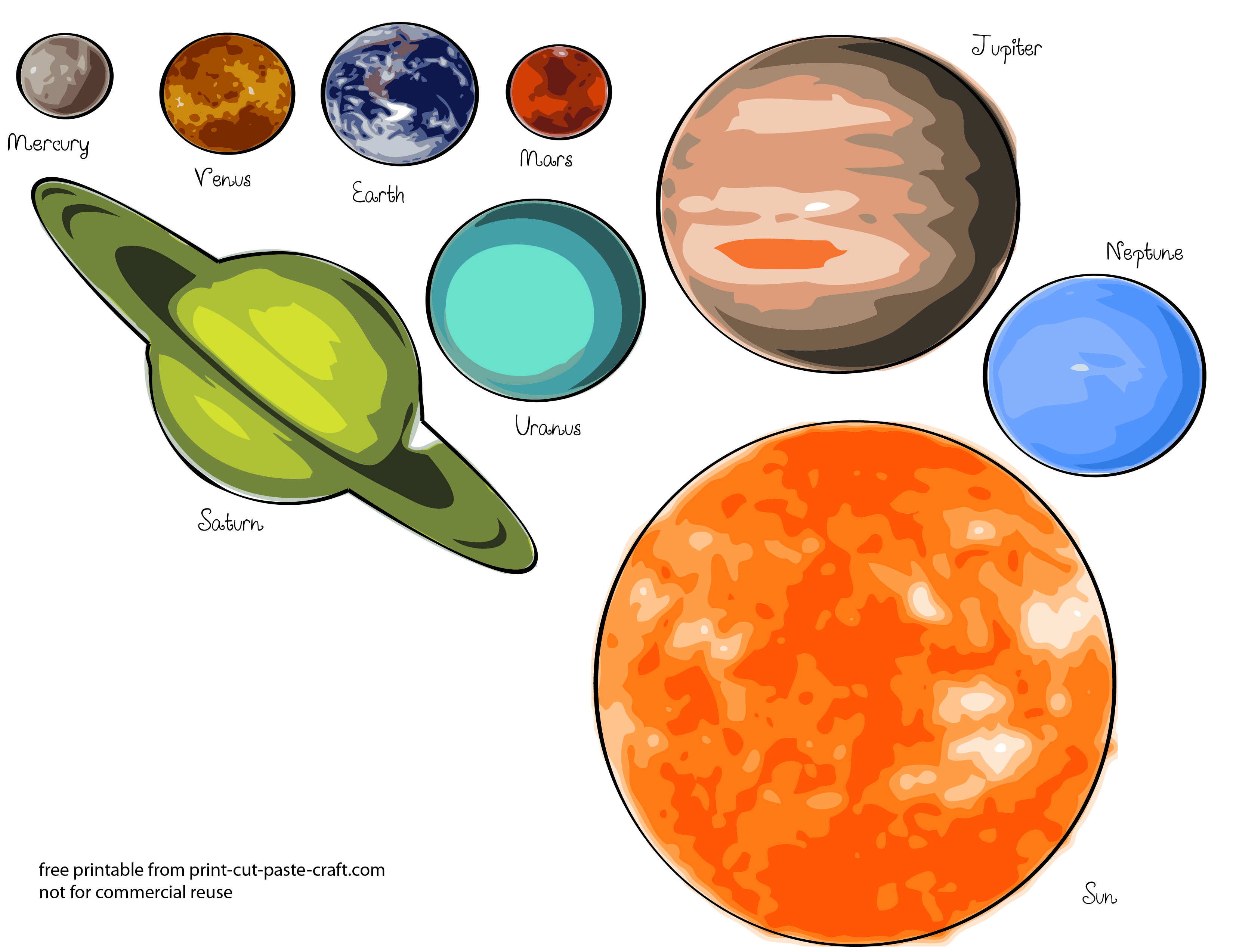 Free Printable Solar System Model For Kids
