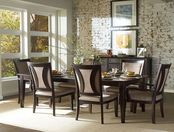 """Amery  Leg Dining Table With Two 11"""" Selfstoring Leavesseats 6 Adorable Aspen Home Dining Room Furniture Inspiration Design"""