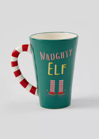 Crockery Dinner Sets Plain Printed Designs Matalan With Images Christmas Cup Naughty Elf Candy Cane