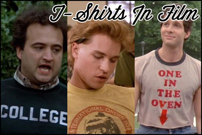 Click to watch a supercut of the best T-shirts in movie history. They have a link for the ones you can buy. I want some of those Real Genius ones!