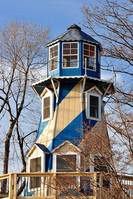 Lighthouse on Springfield Lake - this looks like something someone built as a home or lake cottage.