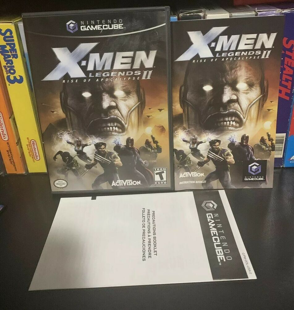 X Men Legends 2 Nintendo Gamecube Game Complete Nintendoswitch Nintendo Switch X Men Activision Apocalypse
