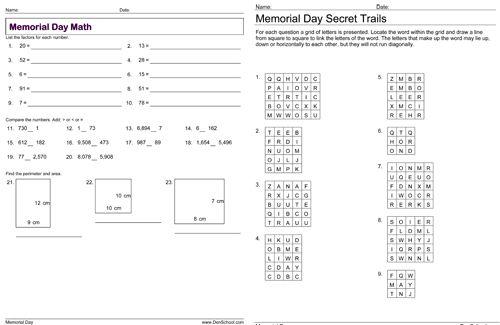 Homeschool Education Denschool Memorial Day Free Clip