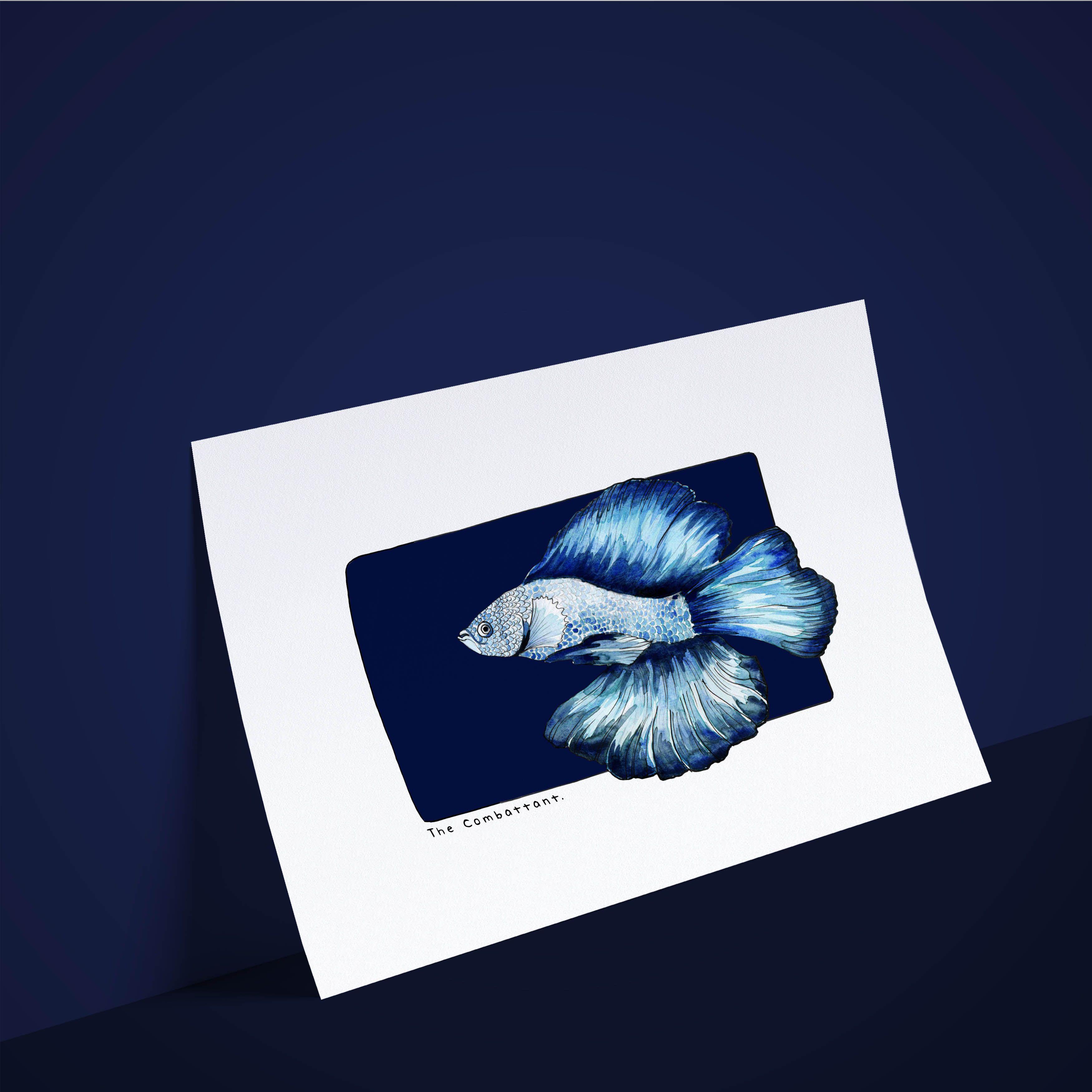 Dans la série des poissons, je voudrais... Le Combattant ! . #aquarelle #watercolor #madeinnantes #combattant #fish #fisch #peces #poisson #acuarela #akwarela #aquarellepainting #aquarell #Акварель