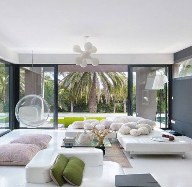 Contemporary Tropical Living Room