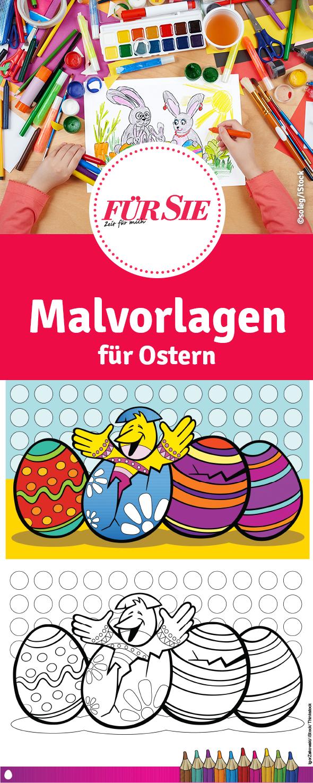 Malvorlagen für Ostern | Ostern, Ausmalbilder und Basteln mit kindern