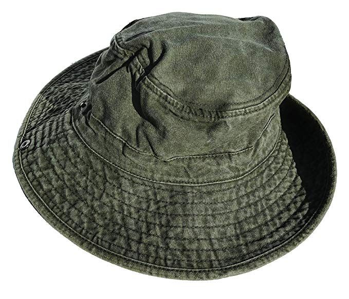 107027c6 Wide Brimmed Stonewash Cotton Boonie Hat for Hiking Fishing & Outdoors Sun  Protection at Amazon Men's Clothing store: