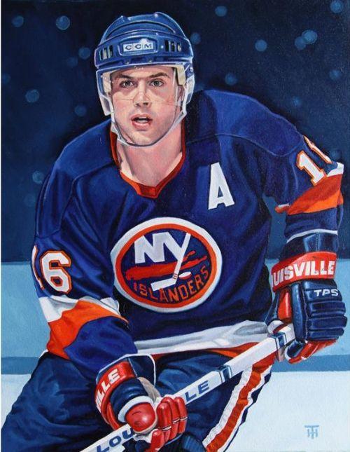 45745da1c2c Pat LaFontaine, NY Islanders painted by Tony Harris Pat Lafontaine, Hockey  Teams, Ice