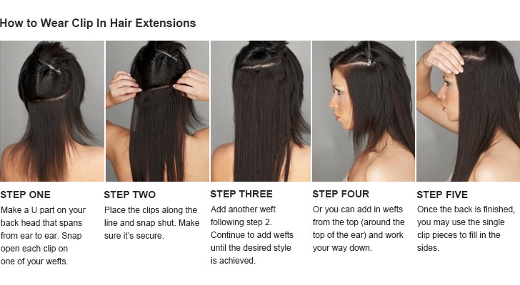 Step by step instructions for installing your Kesh Hair Clip-Ins. Try back  combing your sections before clipping in the extensions for extra hold. b71bd9353