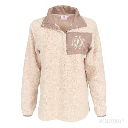 Monogrammed Sherpa Pullover | want | Pinterest | Pullover ...