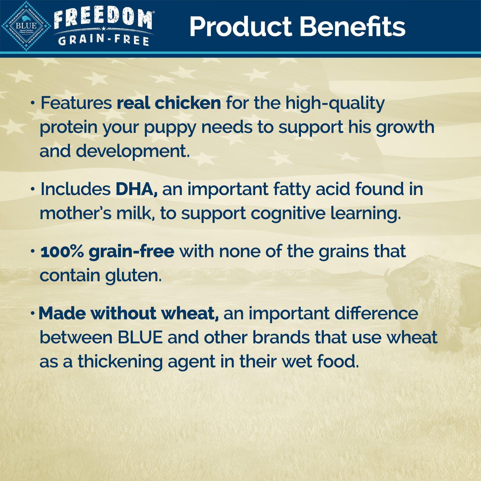 Blue Buffalo Blue Freedom Grain Free Puppy Grain Free Chicken