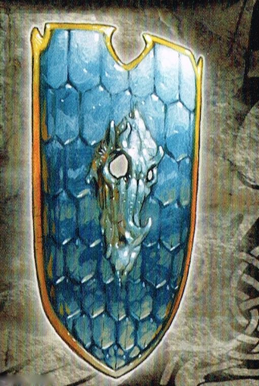 The Dragon Shield - +3 heavy shield of charity - a +3 enhancment to any or all allies of weilder within 10 feet.