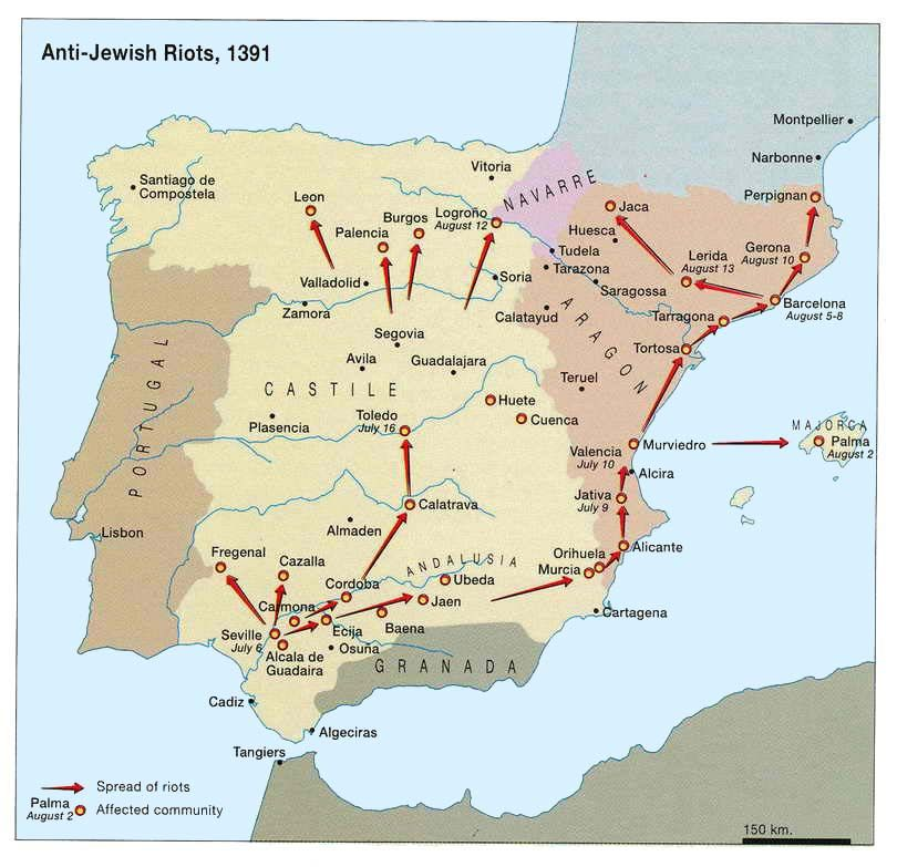 Map Of Jewish Spain.Jews In Spain Page With Images Historical Maps Ancient Maps