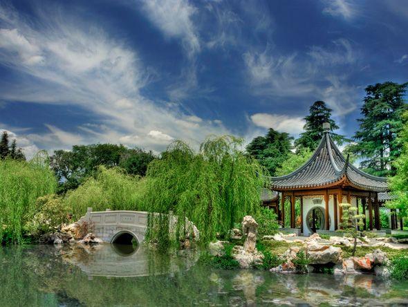 Chinese Garden At Huntington Library In Pasadena, California Http://otl Inc