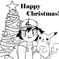 Christmas Coloring, Pokemon Cartoon Free Coloring Pages For Christmas: pokemon cartoon free coloring pages for christmas