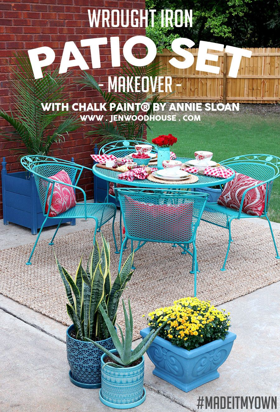 How To Paint Wrought Iron Patio Furniture With Chalk Paint By