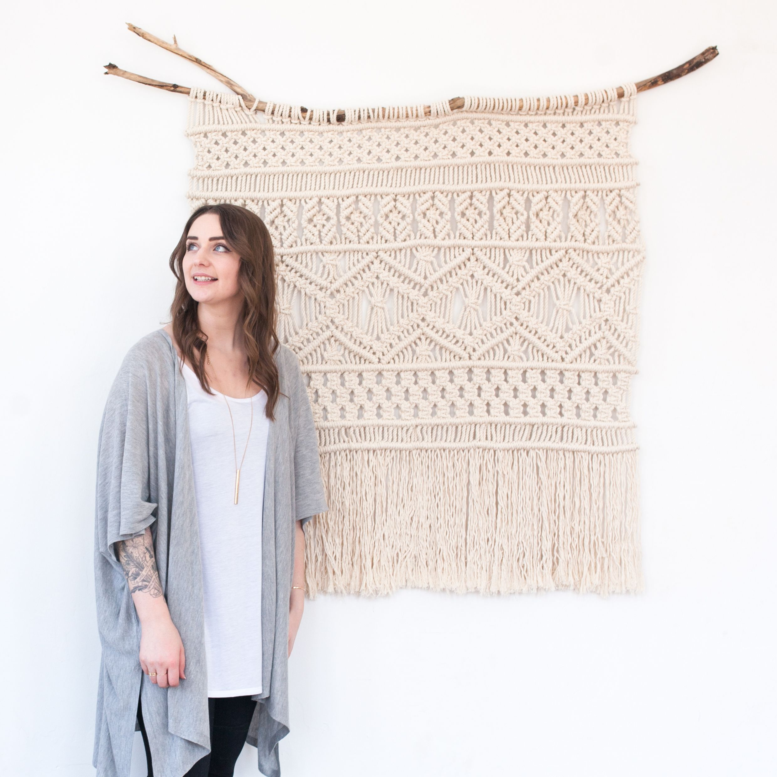 Your Fave Macrame Project: Large Macrame Wall Hanging