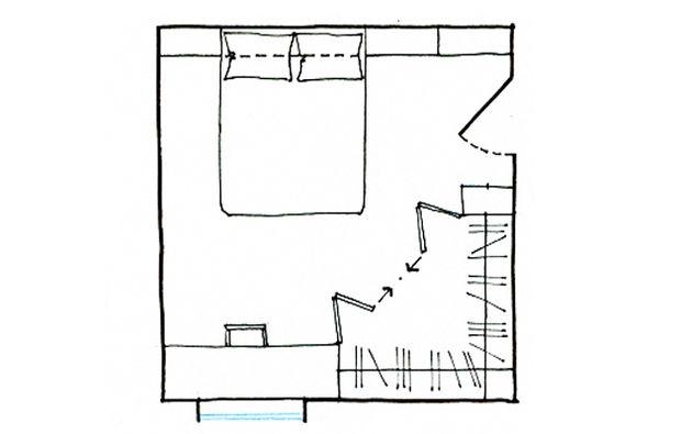 La cabina armadio: 10 progetti a seconda della tua camera   Small ...