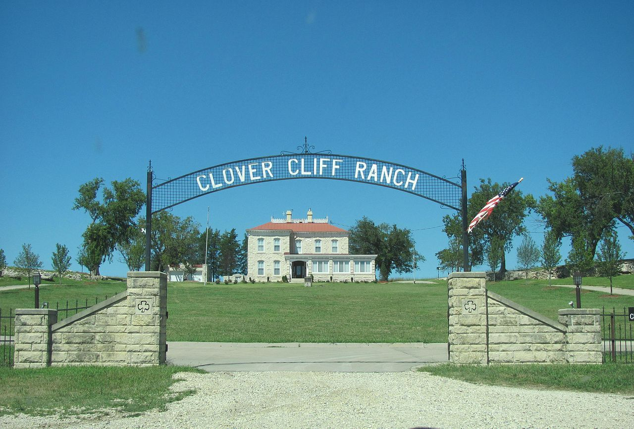 Clover Cliff Ranch House in Chase County, Kansas. Kansas