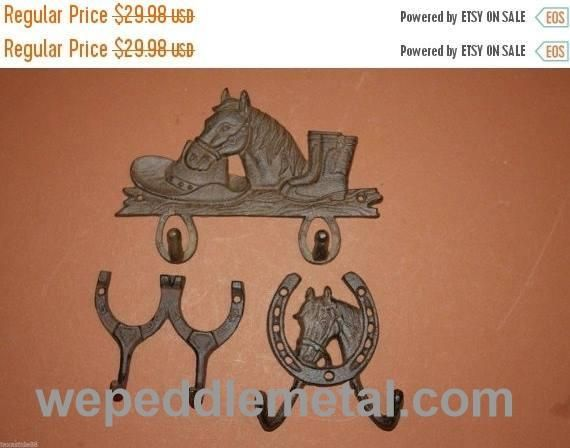 3)pcs, Horse decor, Western wall decor, western wall hooks, country ...