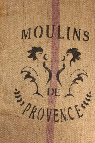 Vintage French Grain Sack Burlap Rooster Provence Purple Jute Printed Burlap Bag | eBay