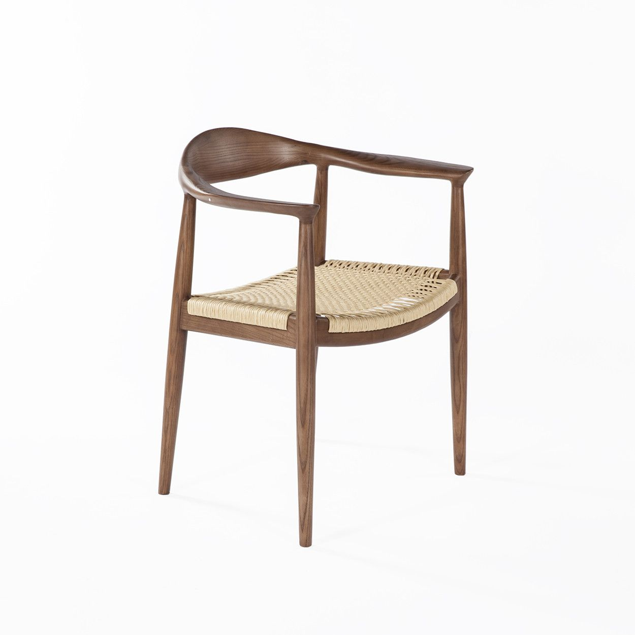 Mid Century Wegner Kennedy Arm Chair With Papercord Seat