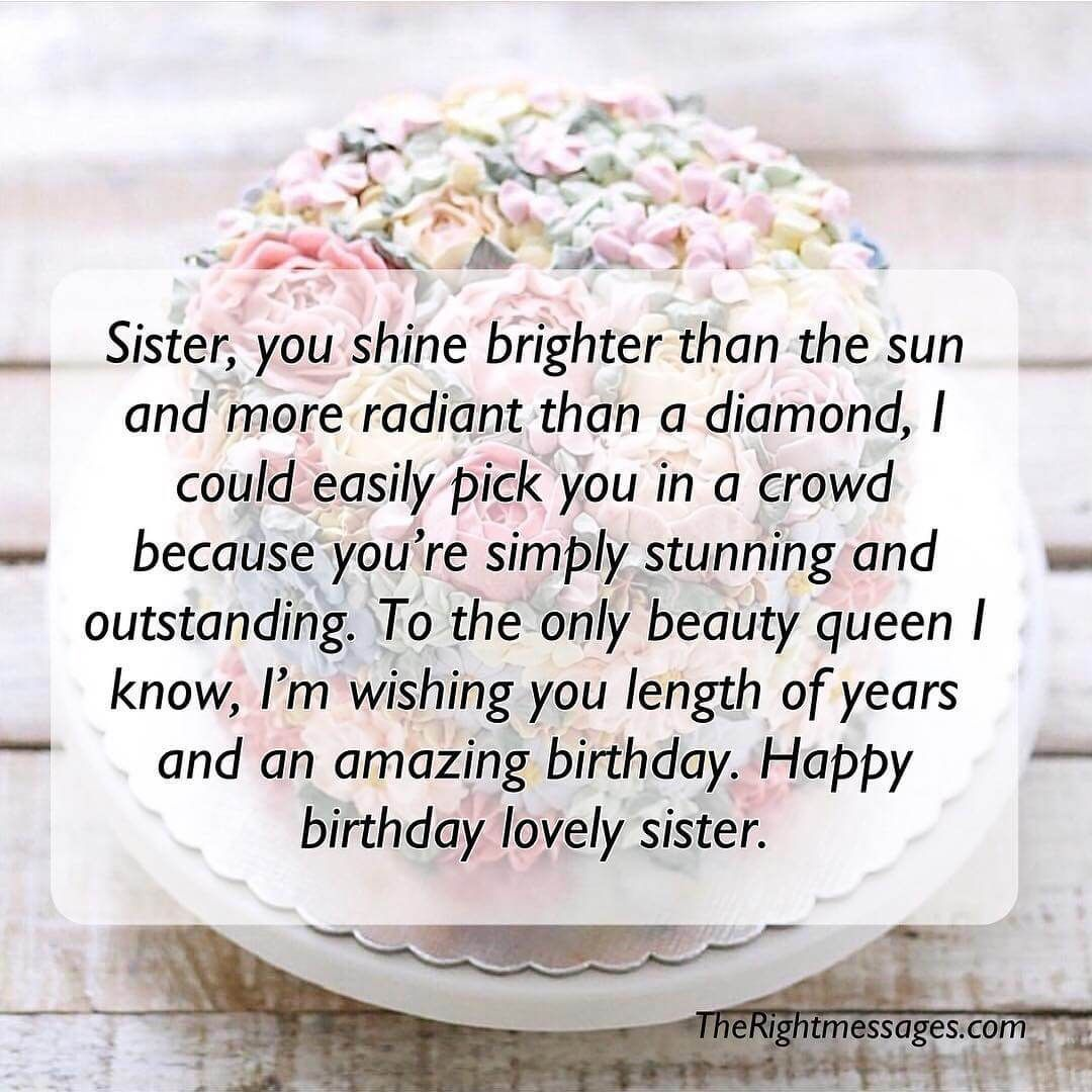 Happy Birthday Lovely Sister Happybirthdaysister Birthday Wishes For Sister Birthday Greetings For Sister Long Birthday Wishes