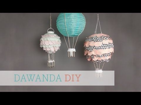 dawanda diy hei luftballon lampe f rs kinderzimmer youtube lampen selber basteln. Black Bedroom Furniture Sets. Home Design Ideas