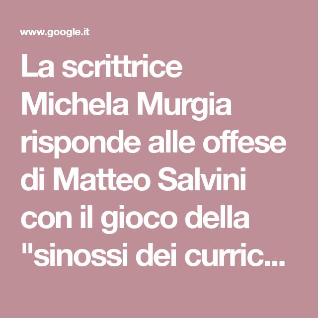 La Scrittrice Michela Murgia Risponde Alle Offese Di Matteo