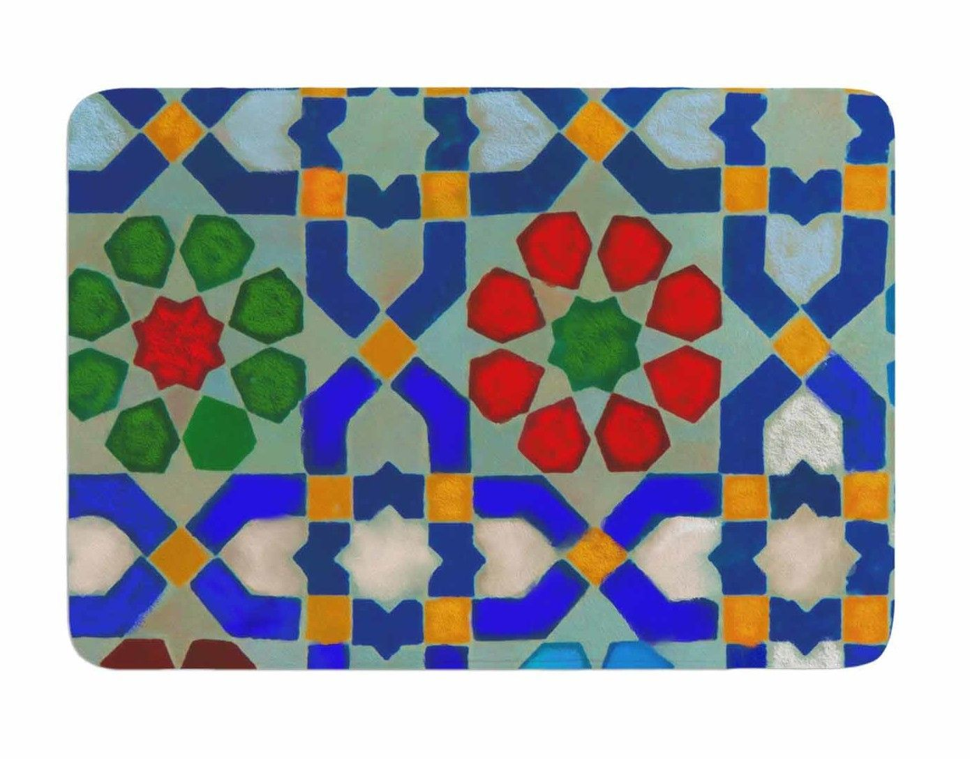 Morrocan blues by s selma z memory foam bath mat products