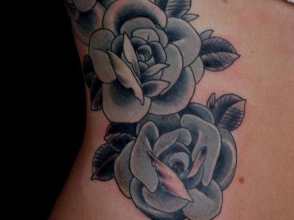 b8a2d3b45 rib tattoo 30 Exotic Black Rose Tattoo Designs | tattoos! | Black ...