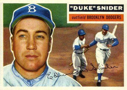 1956 Topps Duke Snider 150 Baseball Card Value Price Guide Baseball Cards Baseball Card Values Old Baseball Cards