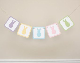 Easter Banner - Photography Prop Banner - Holiday Banner - Spring Banner - Pastel Banner- Peeps Banner - Bunny Banner